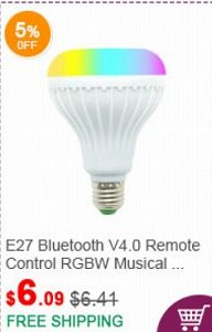 fasttech クーポン E27 Bluetooth V4.0 Remote Control RGBW Musical Stage Light Bulb