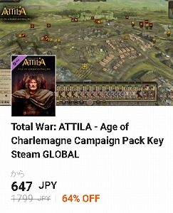 g2a クーポン Total War: ATTILA - Age of Charlemagne Campaign Pack Key Steam GLOBAL