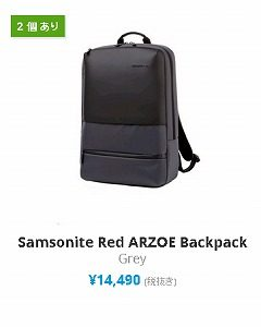 expansys クーポン Samsonite Red ARZOE Backpack