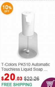 fasttech クーポン T-Colors PK510 Automatic Touchless Liquid Soap Foaming Dispenser