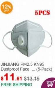 fasttech クーポン JINJIANG KN95 Protective Face Mask PM2.5 Respirator (5-Pack)